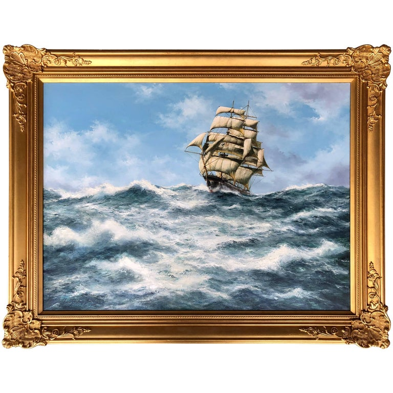 """""""Clipper at Full Sail"""" Painting by John Bentham-Dinsdale"""