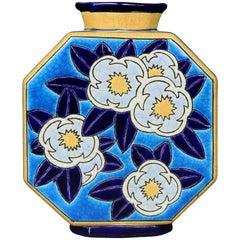 Longwy Art Deco Pottery Vase
