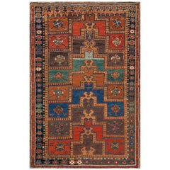 Antique Karapinar Stepped Arch Prayer Rug, Central Anatolia, Mid-19th Century