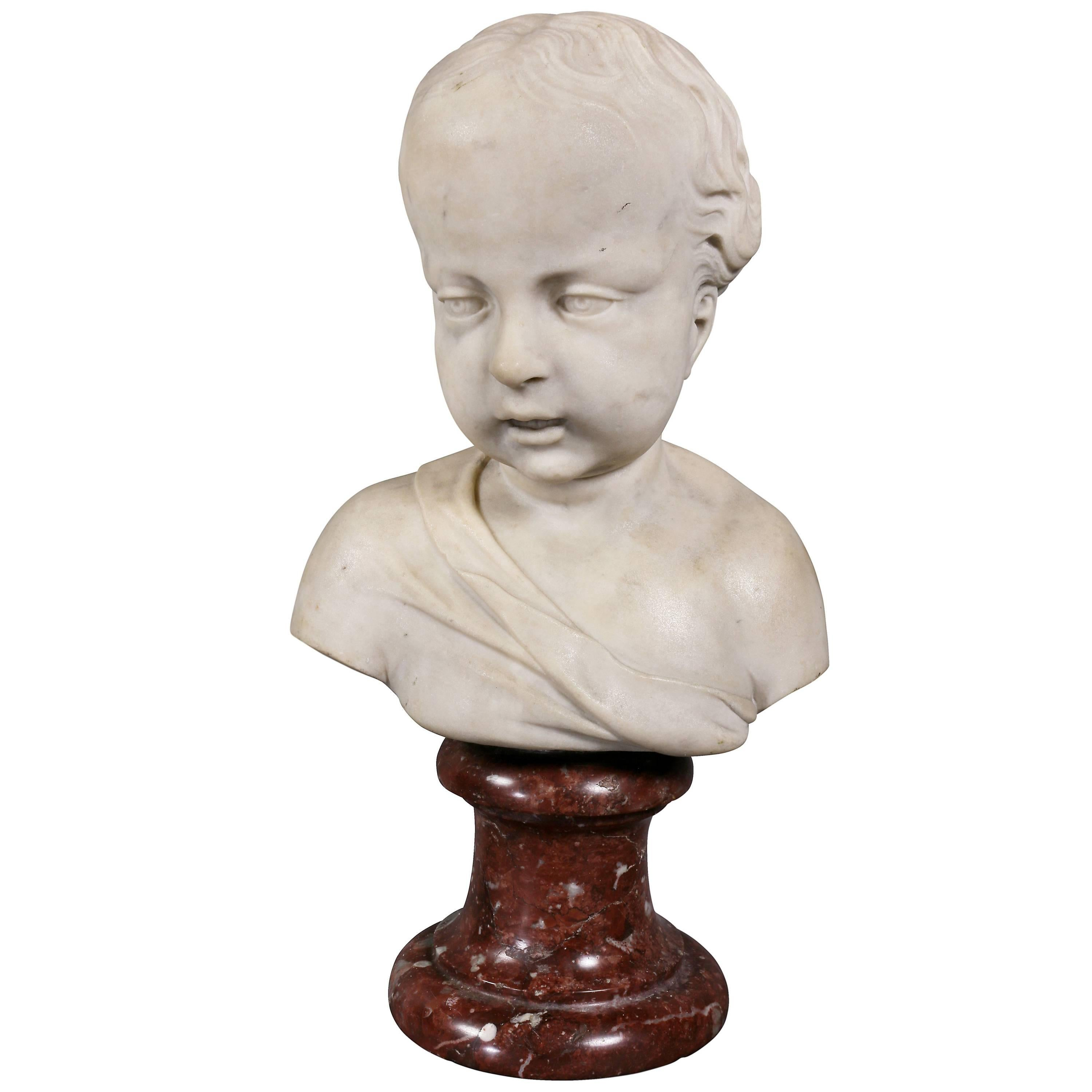 Louis XVI Marble Bust of a Young Boy