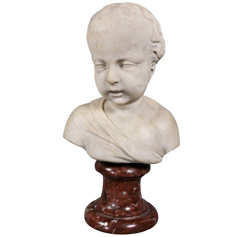Louis XVI Marble Bust of a Young Boy For Sale