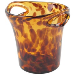 Empoli Tortoiseshell Glass Champagne Wine Cooler Ice Bucket for Christian Dior