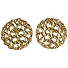 Chanel Signature Chain Link Earrings