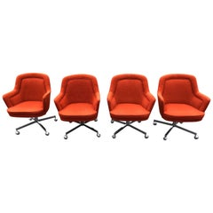 Set of Four Chairs, in the style of Max Pearson for Knoll