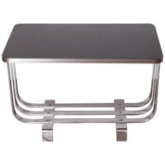 Machine Age Art Deco KEM Weber Lloyd Chromium Furniture Cocktail Table, Lloyd's