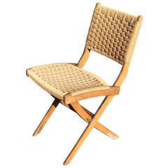 Hans Wegner Style Folding Rope Chair