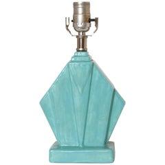 Art Deco Cubist Reuben Haley Muncie Skyscraper Rombic Ceramic Lamp Rhombic