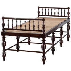 Antique Anglo-Indian or British Colonial Rosewood Daybed