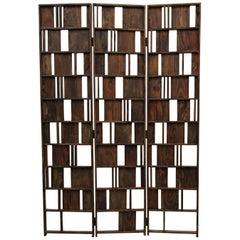 Solid Wood Panel Room Divider Decorative Screen