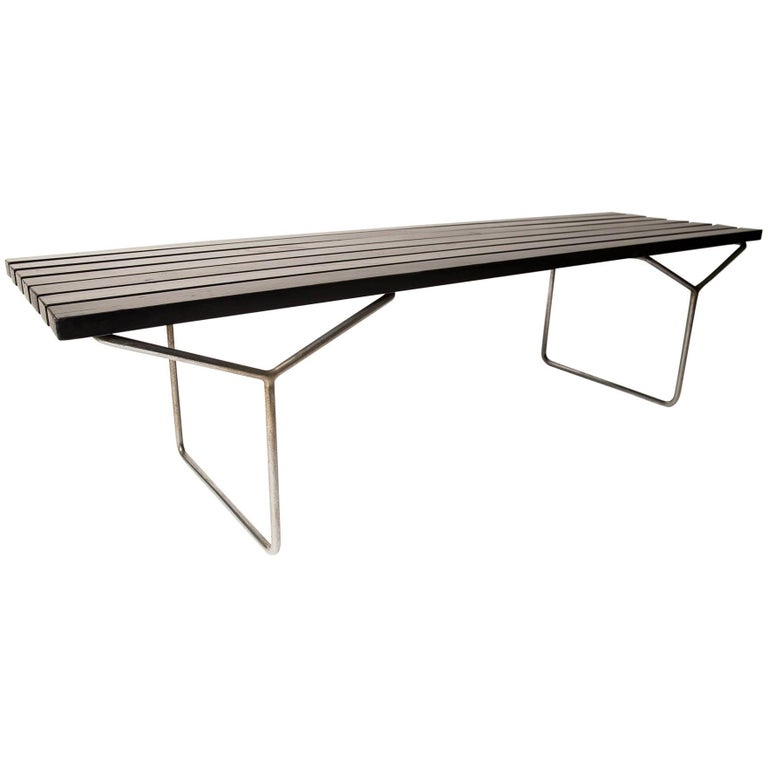 Bertoia Bench Black Prod Pizzetti Roma For Knoll Circa At - Bertoia coffee table