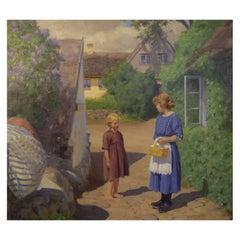 Brendekilde Hans Andersen, Important Danish Artist, Summer Idyll