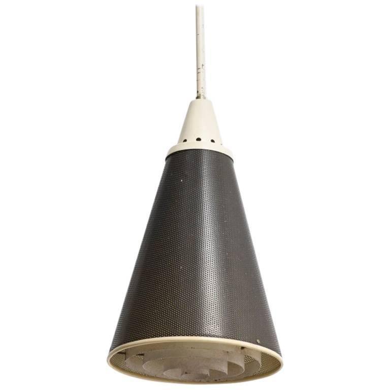 Dutch Design Metal 1950s Perfolux Pendant by Hiemstra Evolux