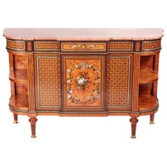 Fantastic Exhibition Quality Antique Satinwood Inlaid Side Cabinet