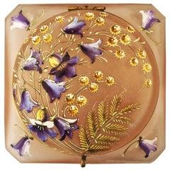 Art Deco French Art Glass Bombonierre Box