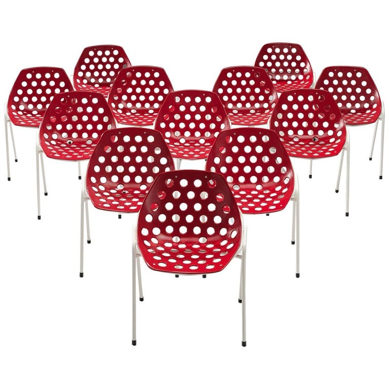 Pierre Guariche Set of 'Coquillage' Chairs for Meurop, 1960s