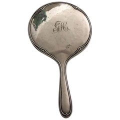 Antique Edwardian Silver Hand Mirror by Henry Matthews