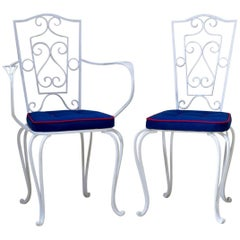 French 1940s Wrought Iron Chairs and Armchairs