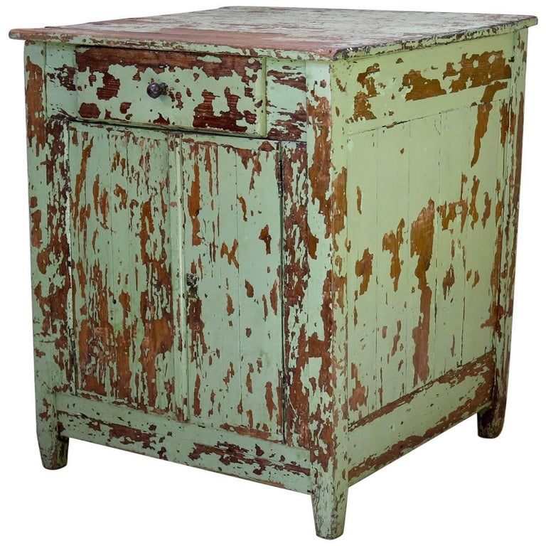 Rustic Painted Cabinet, France, circa 1920s For Sale