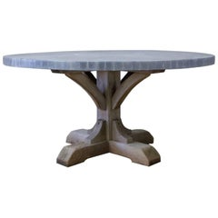 Weathered Oak and Zinc Dining Table