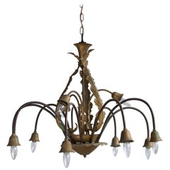 1930s French Large Floral Chandelier