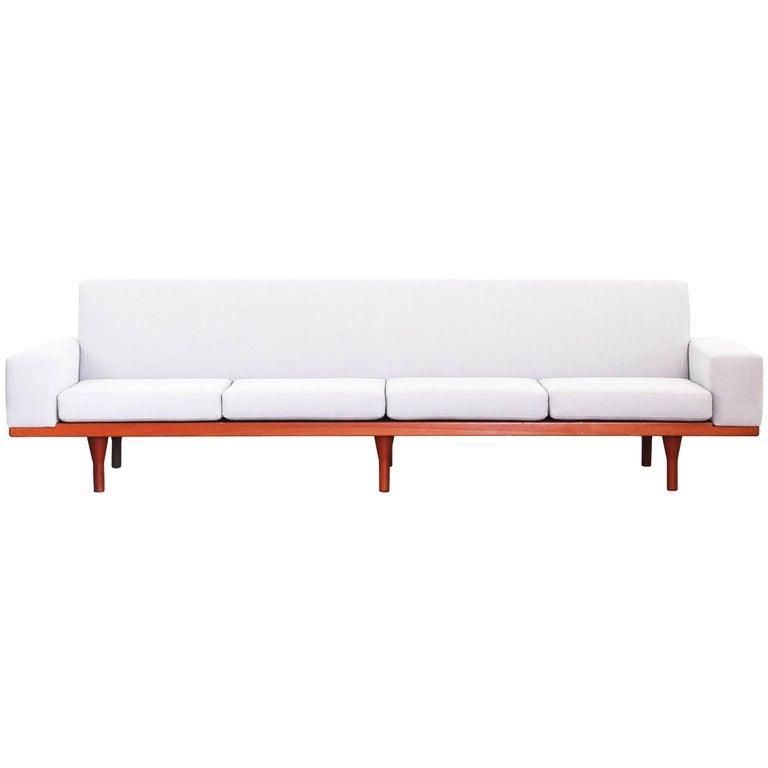 Rare Sofa by Illum Wikkelsoe Wikkelso for Søren Willadsen Teak New Upholstery
