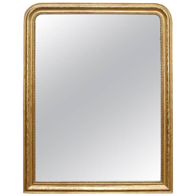 19th Century French Gilt Carved Wood Louis Philippe Mirror