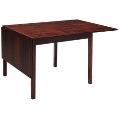 Danish Rosewood Drop-Leaf Table, circa 1960