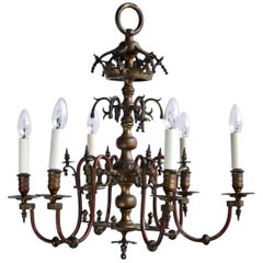 Mid-19th Century Electrified Gasolier Chandelier