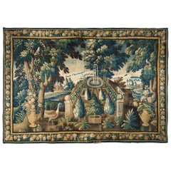Important Late 17th Century Verdure Tapestry, Northern France