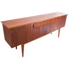 Italian Mid-Century Modern Mahogany Sideboard Credenza Enfilade, 1950s
