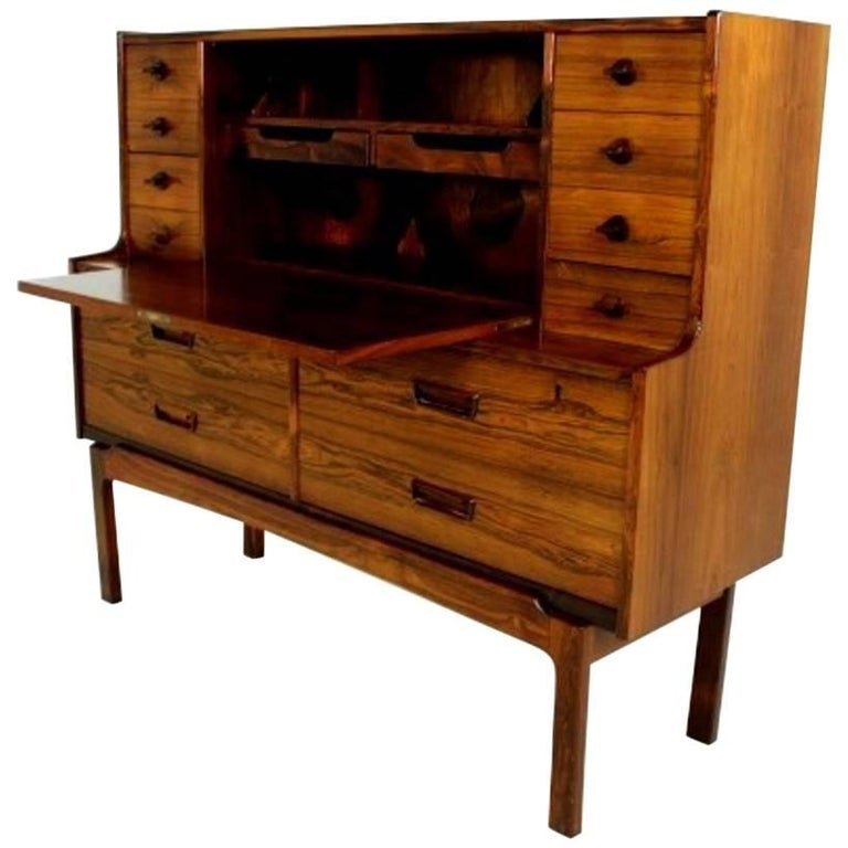 Scandinavian Modern Secretary / Desk in Rosewood, Made in Denmark, 1960s