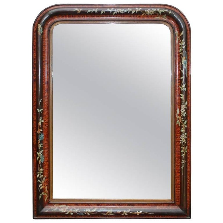 19th Century French Louis Philippe Rosewood Mirror For Sale