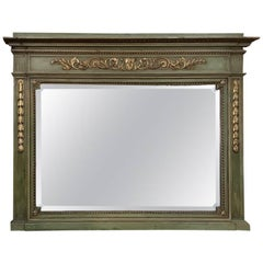 Antique Italian Neoclassical Painted Mirror