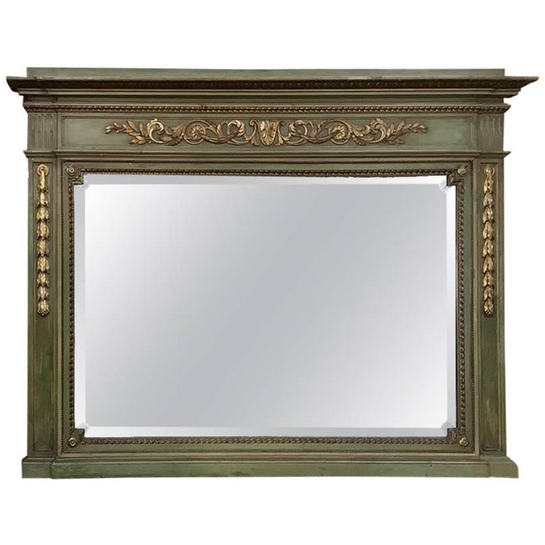Antique Italian Neoclassical Painted Mirror