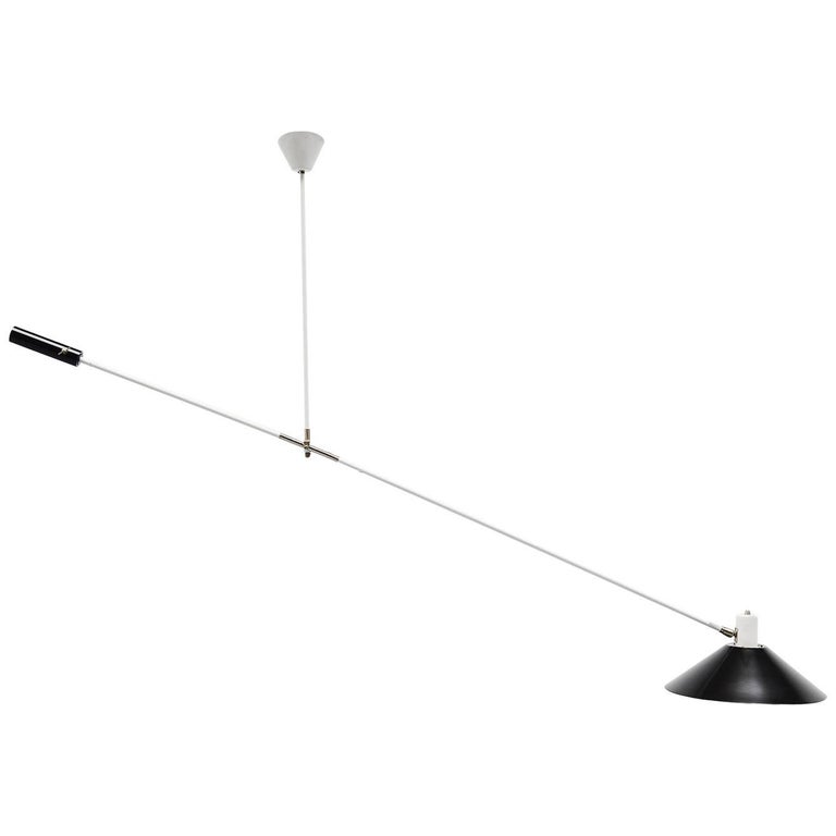 JJM Hoogervorst Anvia Counter Balance Ceiling Lamp Holland, 1957