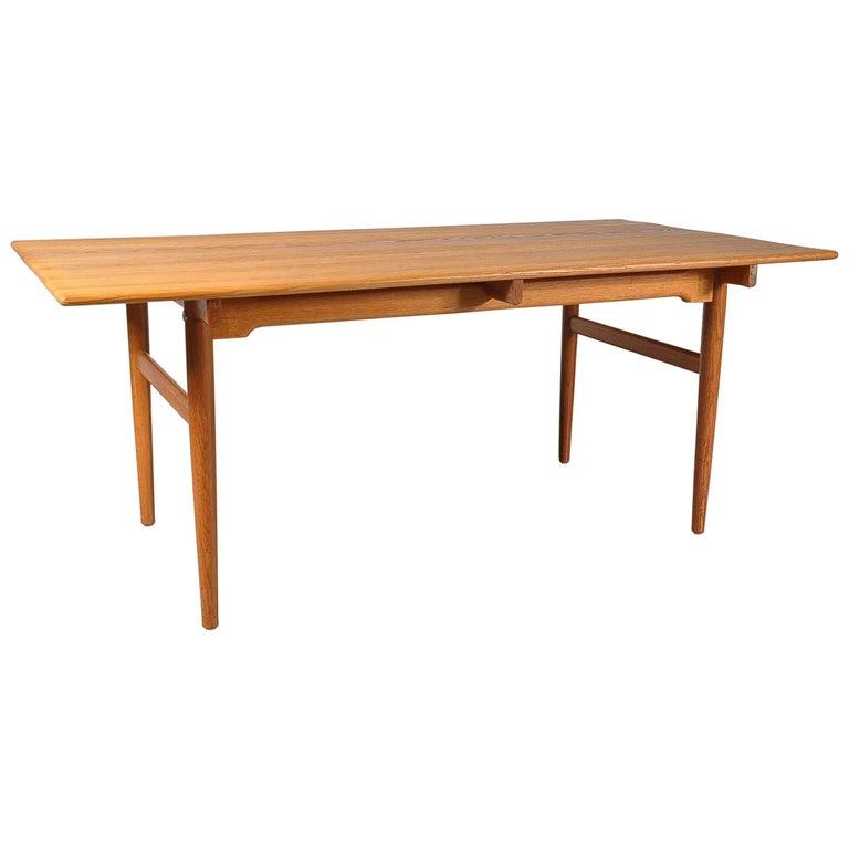 Hans J. Wegner Oak Dining Table for Andreas Tuck in Denmark, 1950