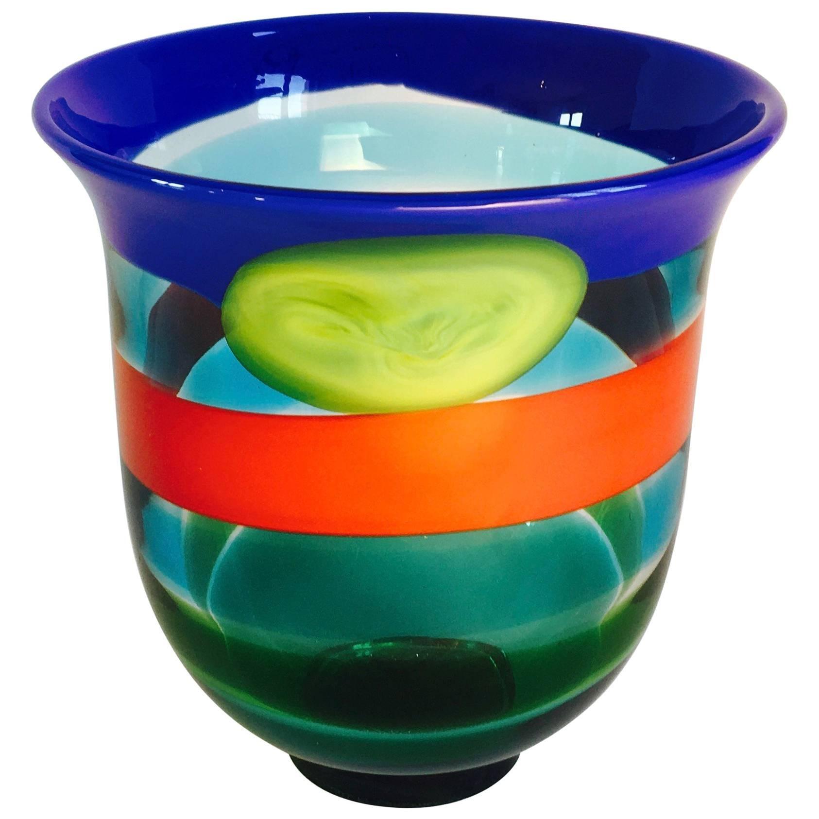Italian Murano Glass Vase by Berit Johansson for Salviati.