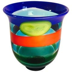 Salviati Murano Glass Vase, 1991, Italy