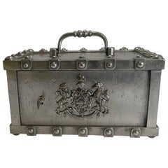 Antique French Stagecoach Safe by Bauche, circa 1870