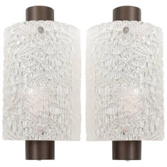 Kalmar Glass Sconces Wall Lights, 1960s
