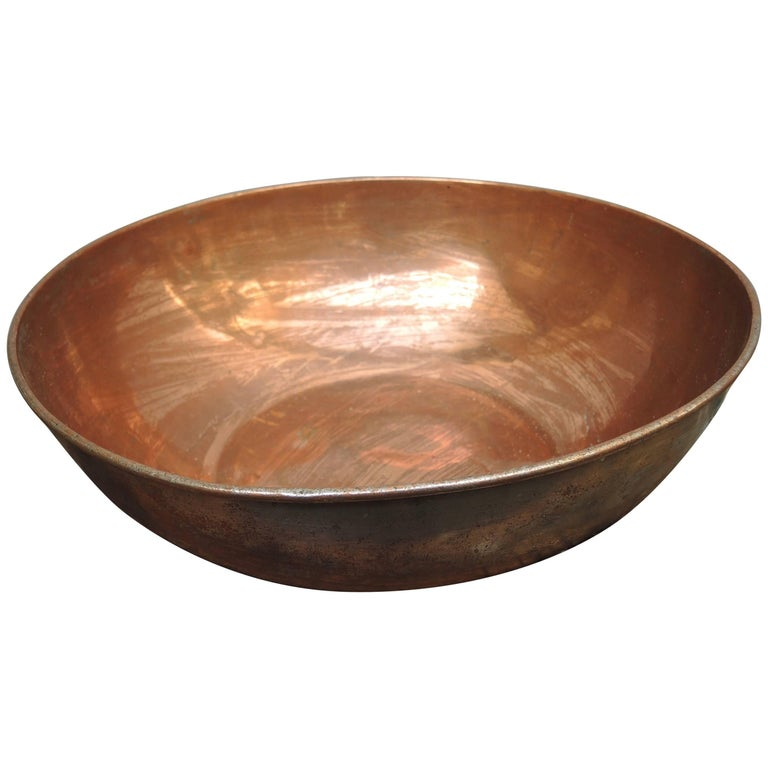 19th Century French Copper Chefs Bowl