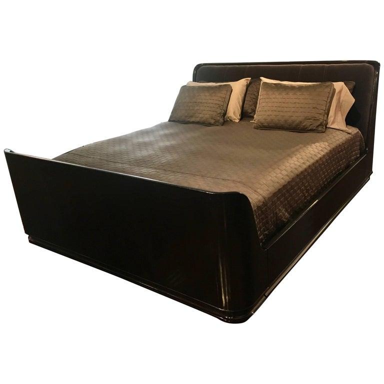 Ralph Lauren King Bed in Macassar Ebony For Sale