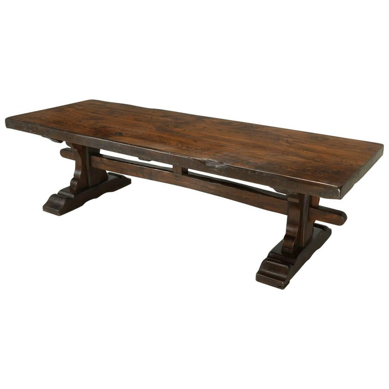 Antique French Trestle Dining Table, circa 1800s