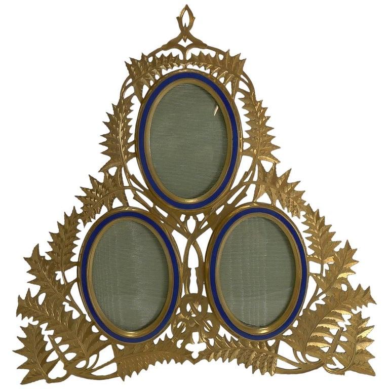 Magnificent Antique English Gilded Bronze Photograph Frame, circa 1880