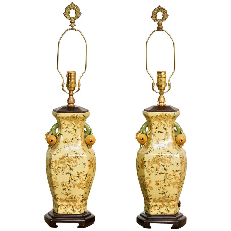 Pair Of Chinoiserie Porcelain Vase Table Lamps By Bradburn At 1stdibs