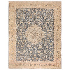 Antique Navy Background Tabriz Persian Rug