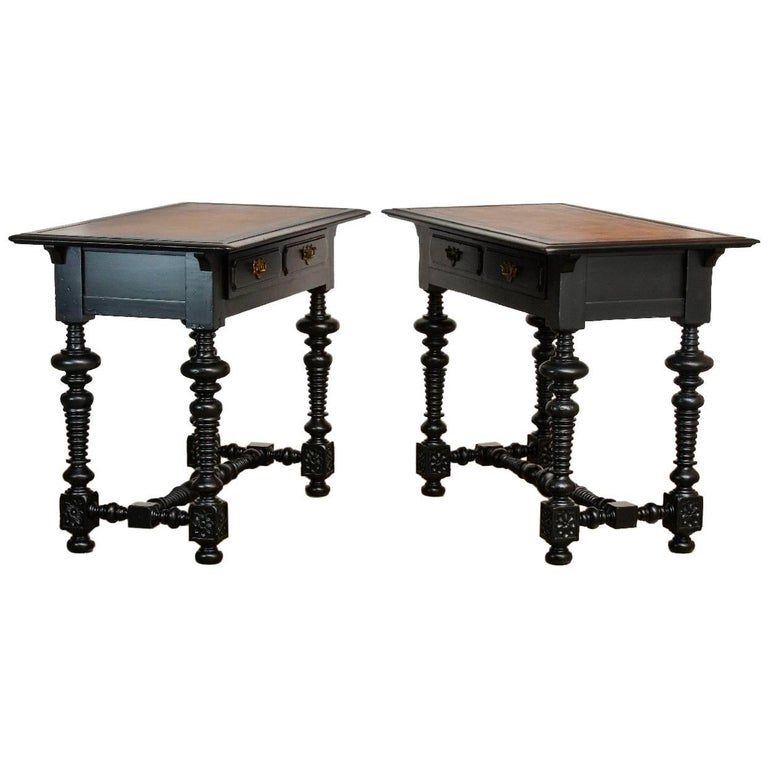 Pair of Portuguese Carved Library Tables by John Richard