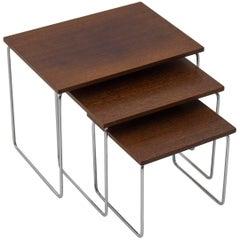 1960s Brabantia Rosewood Nesting Tables, Set of Three