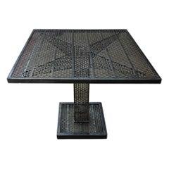 René Malaval Iron Perforated Square Table, circa 1960