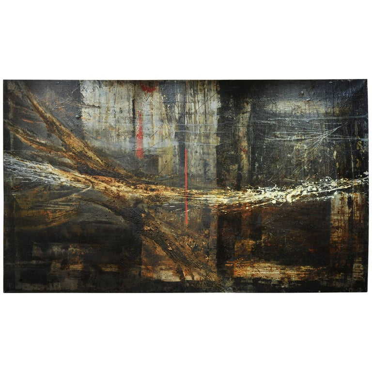 Monumental, 1950s Abstract Painting For Sale